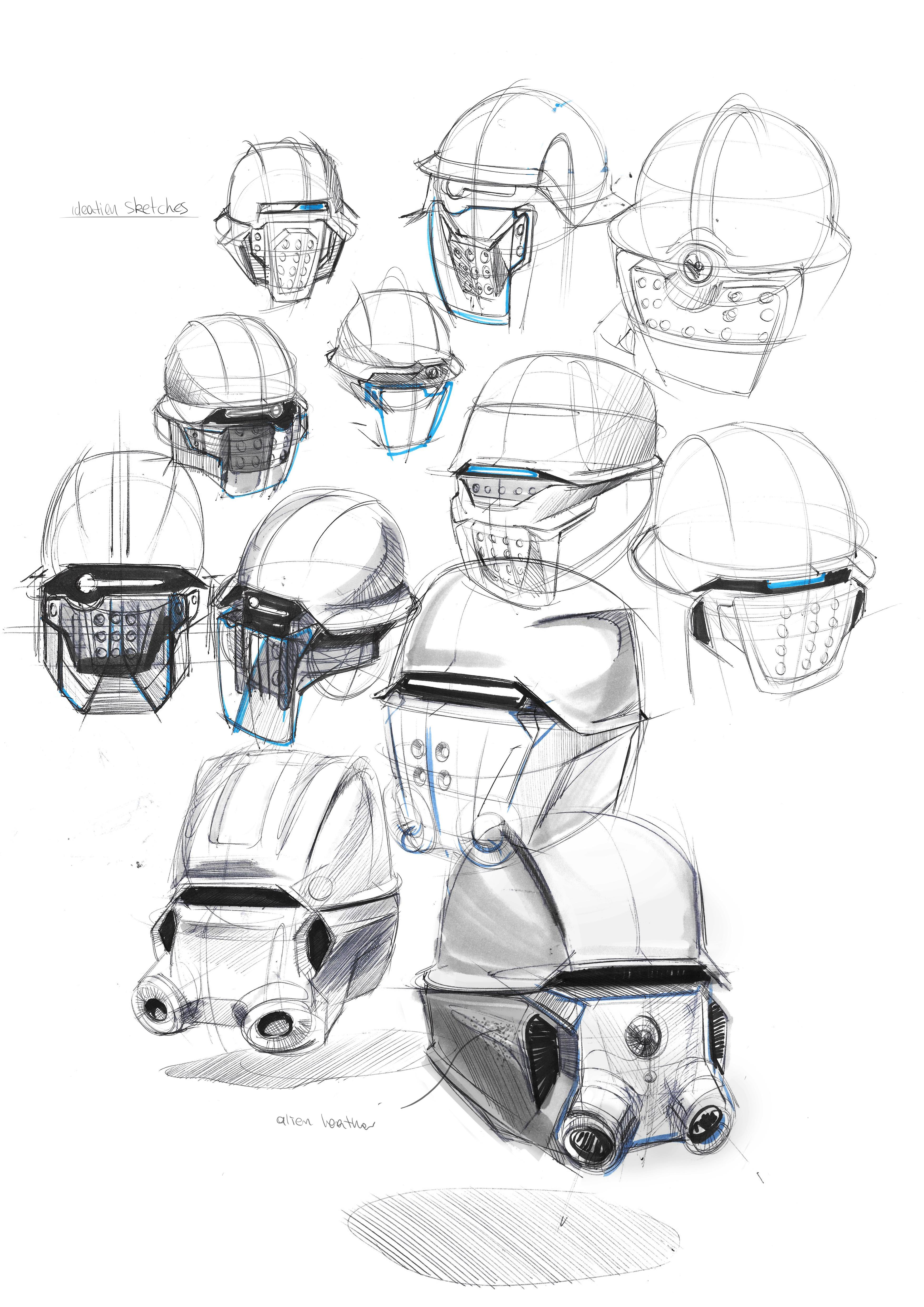 helmet-sketches
